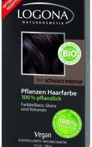 Logona Prášková farba na vlasy – Black intense
