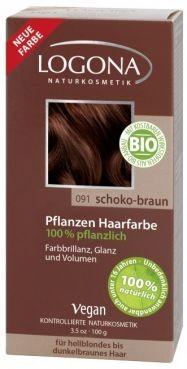 Logona Prášková farba na vlasy – Chocolate brown