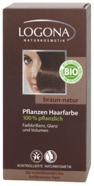 Logona Prášková farba na vlasy – Prírodná hnedá
