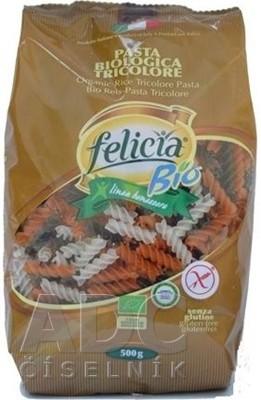 BIO ryžové cestoviny Felicia FUSILLI TRICOLORE
