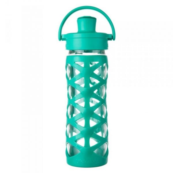Sklenená fľaša Lifefactory Active Cap 475 ml aquatic green