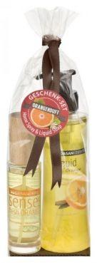 Darčekový balíček osviežovač spray fresh Pomaranč + tekuté mydlo na ruky Pomaranč