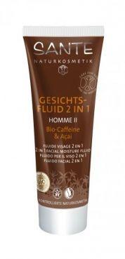 HOMME II pleťový hydratačný fluid 2 v 1 BIO kofeín a acai