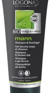 Mann šampón a sprchový gél BIO ginko a kofeín