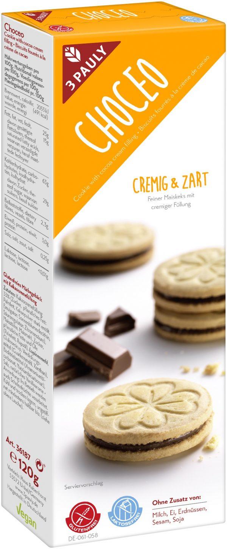 sušienky choceo plnené kakaové bezlepkové