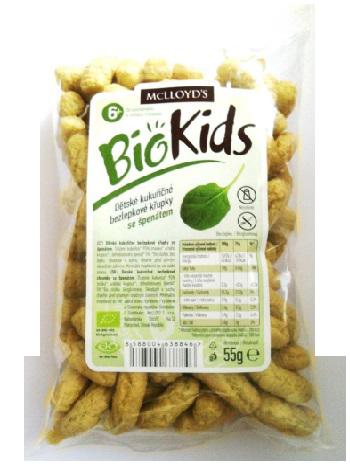 Chrumky kukuričné špenátové