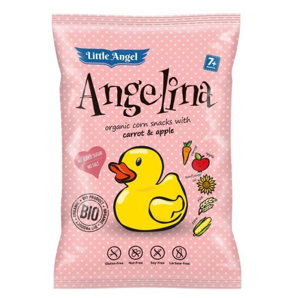 Snack kukuričný Angelina mrkva jablko