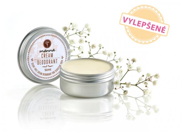 Neparfumovaný krémový deodorant na senzitívnu pokožku - vynovený