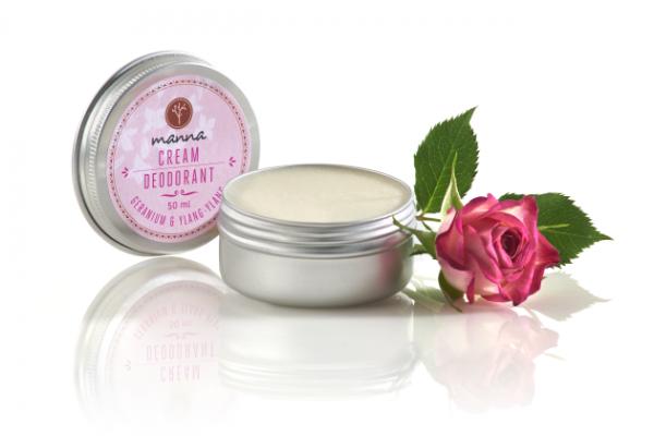 Krémový deodorant geránium a Ylang-Ylang