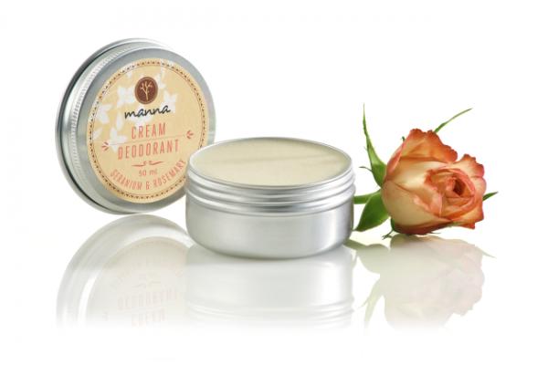Krémový deodorant geranium a rozmarín