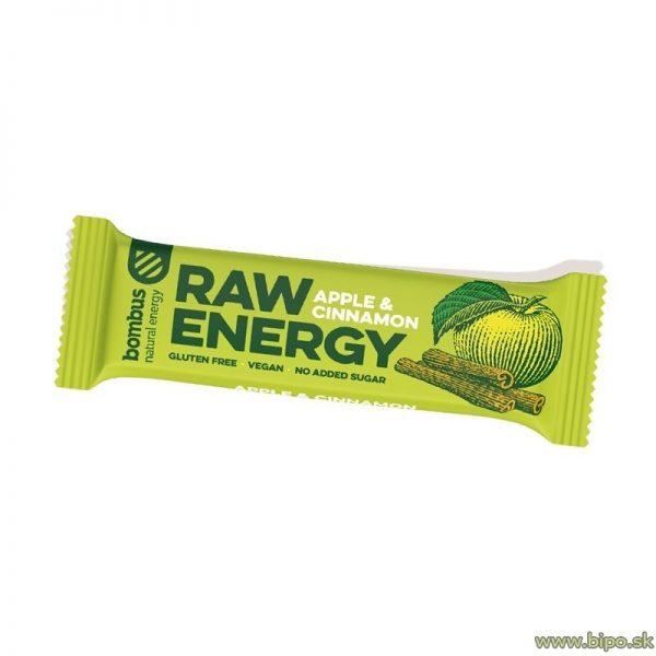Tyčinka BOMBUS RAW energy jablko-škorica