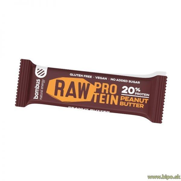 Tyčinka BOMBUS RAW protein arašidy