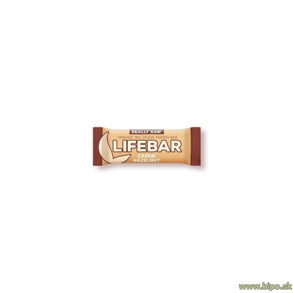 Tyčinka Lifebar karobová s lieskovcami