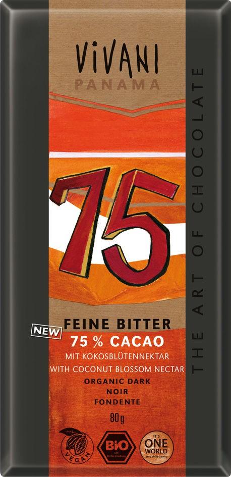 EG horká čokoláda 75 % s kokos. cukrom