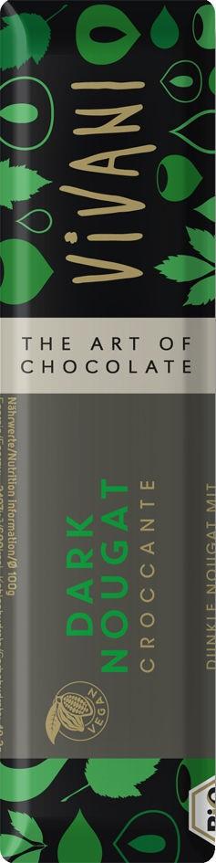 Čokoládová tyčinka nugátová tmavá