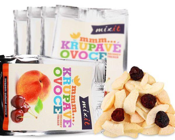 Chrumkavé ovocie do vačku - Broskyňa + Čerešňa (5 ks)