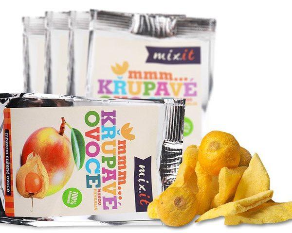 Chrumkavé ovocie do vačku - Mango + Physalis (5 ks)
