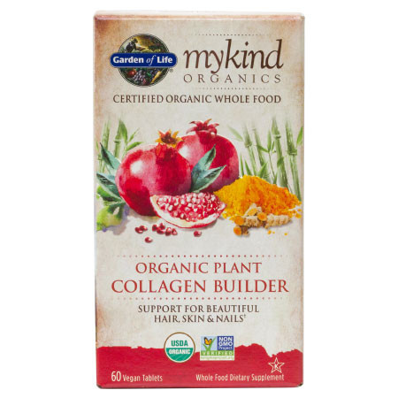 mykind Organics Organic Plant Collagen Builder - na podporu tvorby kolagénu