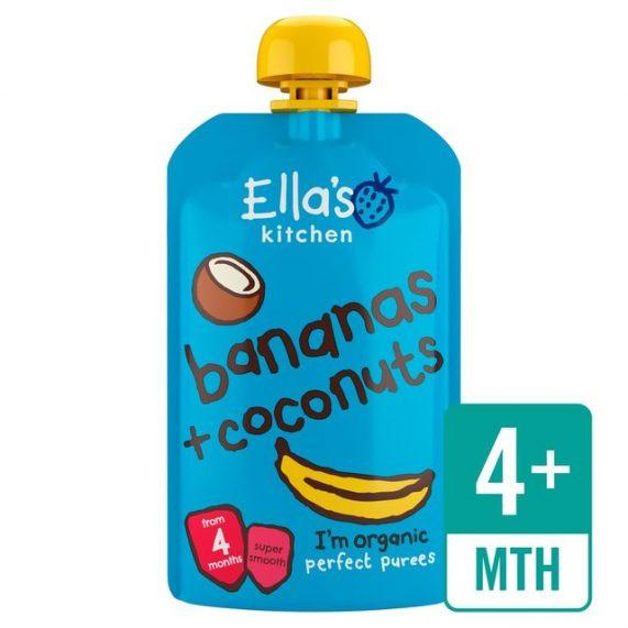 Ovocné pyré – banány a kokos (120g)