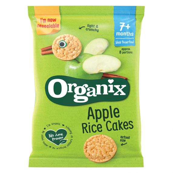 Jablkový ryžový koláčik (50g)