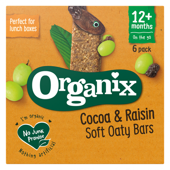 Kakaovo-hrozienkové tyčinky (6x30g)