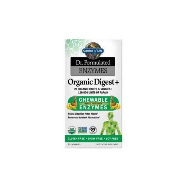 Dr. Formulated Organické enzýmy na podporu trávenia 90 tabliet
