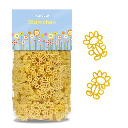 ALB-GOLD pasta pre deti – kvetinky (250g)