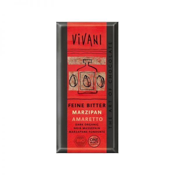 Vivani bio horká čokoláda marcipán amaretto - 100 g