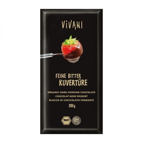 Vivani bio horká čokoláda na varenie - 200 g
