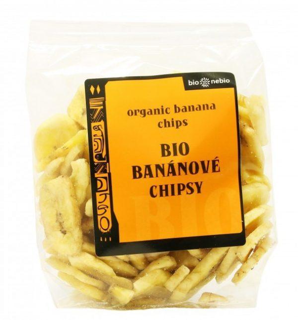 bananové chipsy