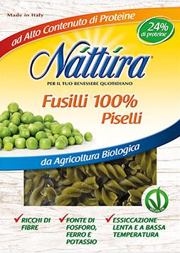 Bio vegan fusilli 100% zo zeleného hrášku