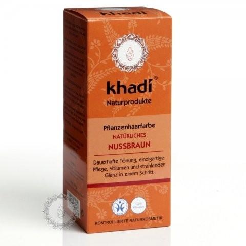 Prírodná farba na vlasy KHADI orechovo hnedá