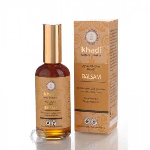 KHADI vlasový olej BALZAM proti lupinám 100ml