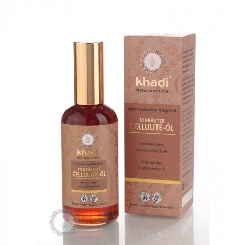 Telový olej KHADI z 10 ajurvédských bylín - celulitída 100ml