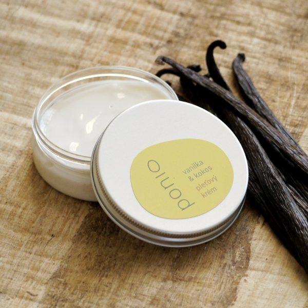 Vanilka & kokos - pleťový krém