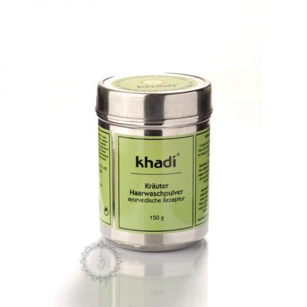Khadi prášok ZO ZMESI BYLÍN - ajurvédský šampón a kondicionér