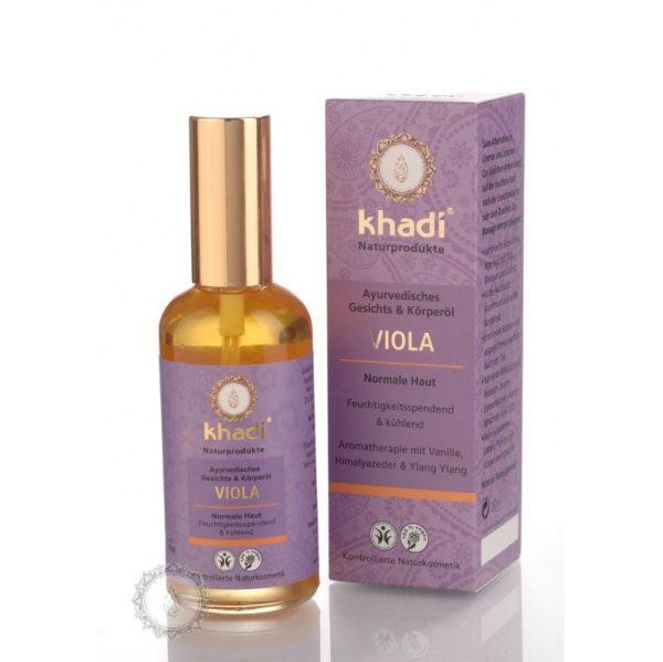 Khadi pleťový a telový olej FIALKA