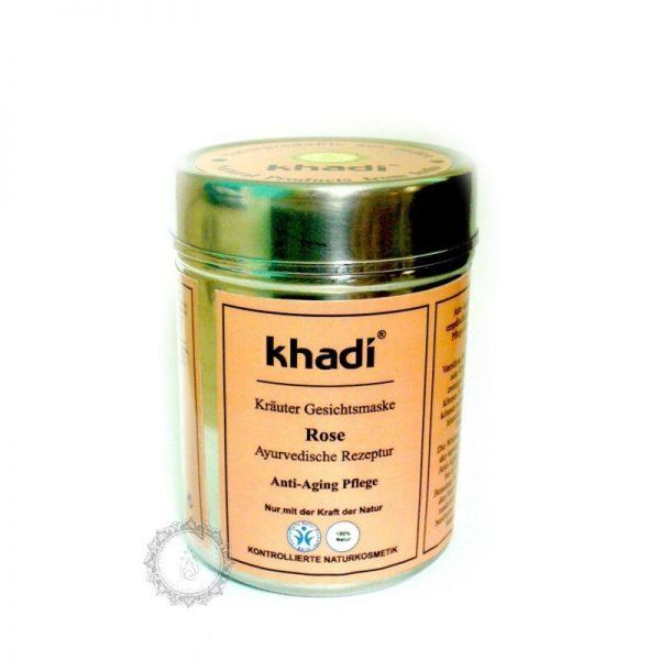 Khadi bylinná pleťová MASKA RUŽA - proti stárnutiu pleti