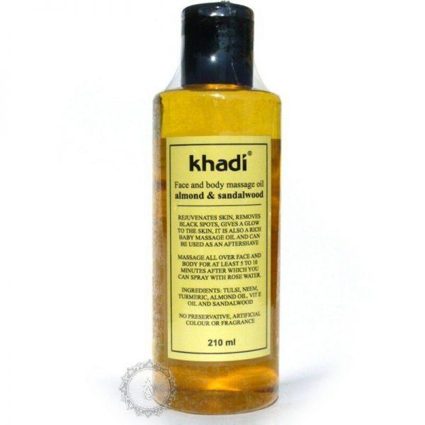 Khadi pleťový a telový olej SANTALOVÉ DREVO & MANDLE