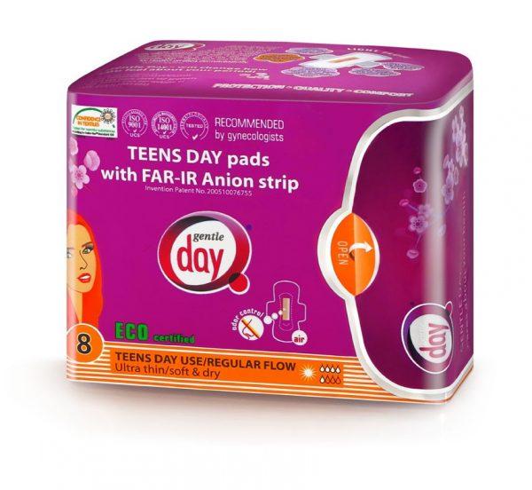 Ekologické aniónové vložky Teens Day Gentle Day®