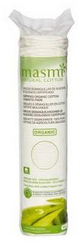 Kozmetické vatové vankúšiky z organickej bavlny Masmi 80 ks