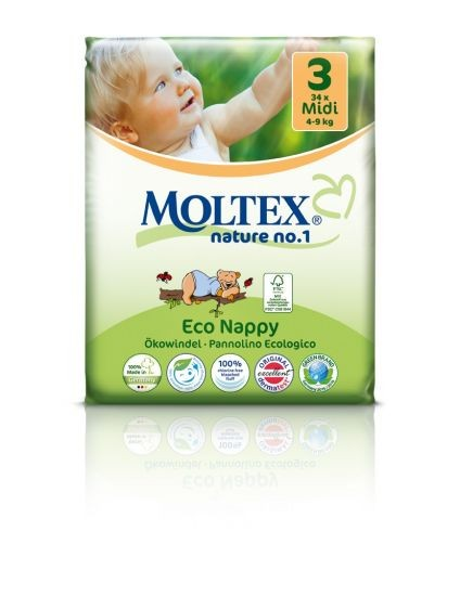 Moltex detské bio plienky 4-9kg