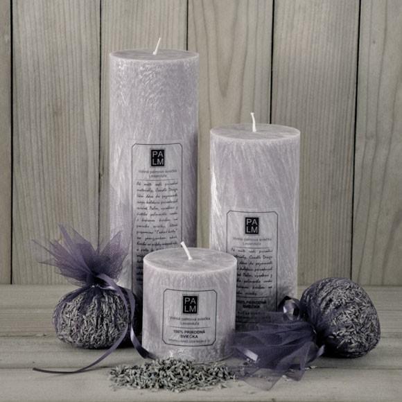 Vonná palmová sviečka - Lavender
