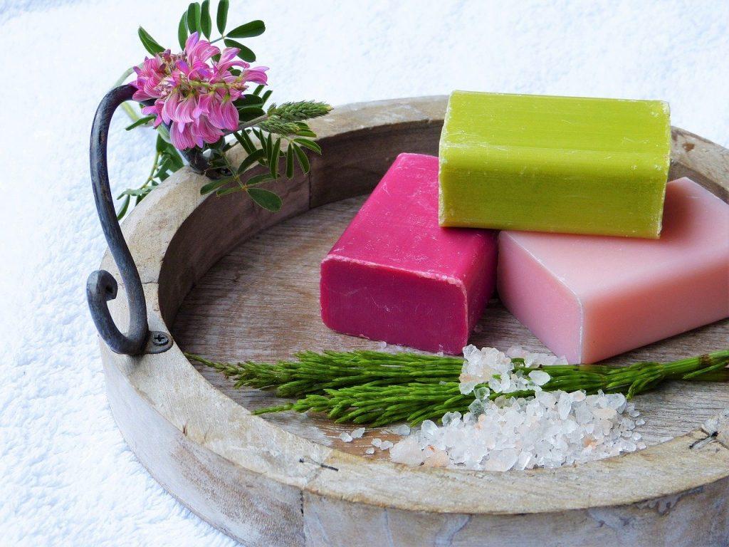 soap, horsetail, salt